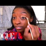 Simone Biles's Guide to Gold Eye Makeup|Elegance Secrets|Vogue