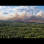 Forest fires bordering more detailed to areas in northern Ontario